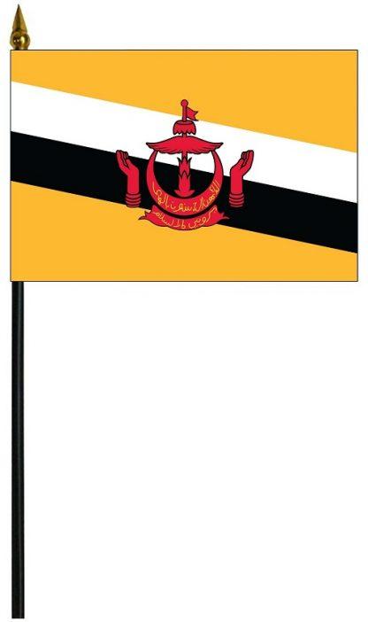 """MRF-46-BRUNEI Brunei 4'' x 6"""" Staff Mounted Rayon-0"""