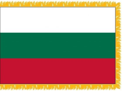 FWI-210-4X6BULGARIA Bulgaria 4' x 6' Indoor Flag with Pole Sleeve and Fringe-0