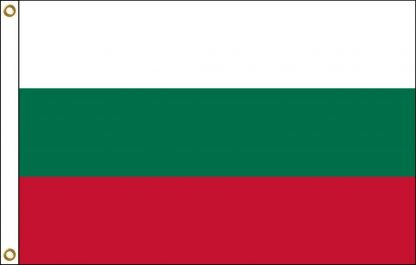 FW-110-5X8BULGARIA Bulgaria 5' x 8' Outdoor Nylon Flag with Heading and Grommets-0