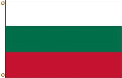 FW-110-3X5BULGARIA Bulgaria 3' x 5' Outdoor Nylon Flag with Heading and Grommets-0