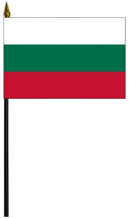 """MRF-46-BULGARIA Bulgaria 4'' x 6"""" Staff Mounted Rayon-0"""