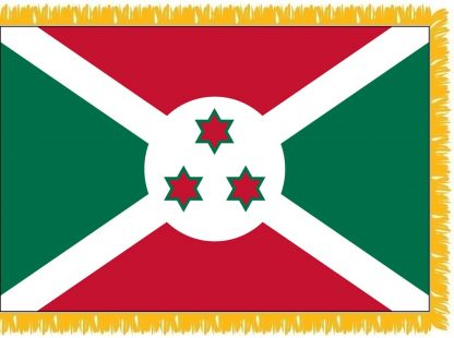 FWI-225-3X5BURUNDI Burundi 3' x 5' Indoor Flag with Pole Sleeve and Fringe-0