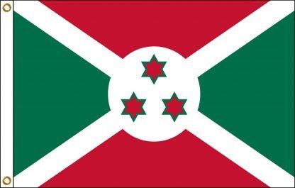 FW-125-5X8BURUNDI Burundi 5' x 8' Outdoor Nylon Flag with Heading and Grommets-0