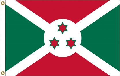 FW-125-3X5BURUNDI Burundi 3' x 5' Outdoor Nylon Flag with Heading and Grommets-0