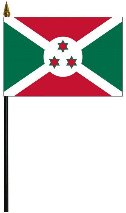 """MRF-46-BURUNDI Burundi 4'' x 6"""" Staff Mounted Rayon-0"""