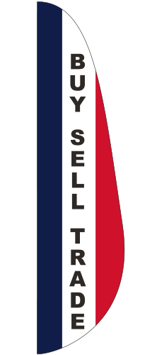 FEF-3x12-BST Buy Sell Trade 3' x 12' Message Feather Flag -0