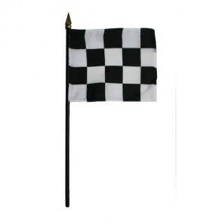 "BWS-1218 12""x18"" Polyester Checkered Stick Flag-0"