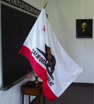 "EPC-2436-CALIFORNIA California 24"" x 36"" Mounted Classroom Flag-0"
