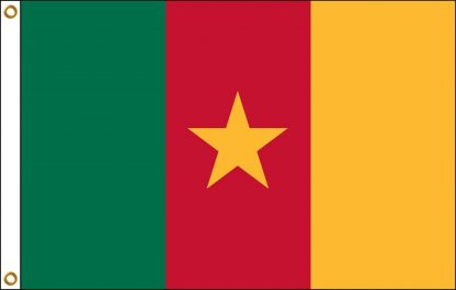 FW-125-4X6CAMEROON Cameroon 4' x 6' Outdoor Nylon Flag with Heading and Grommets-0
