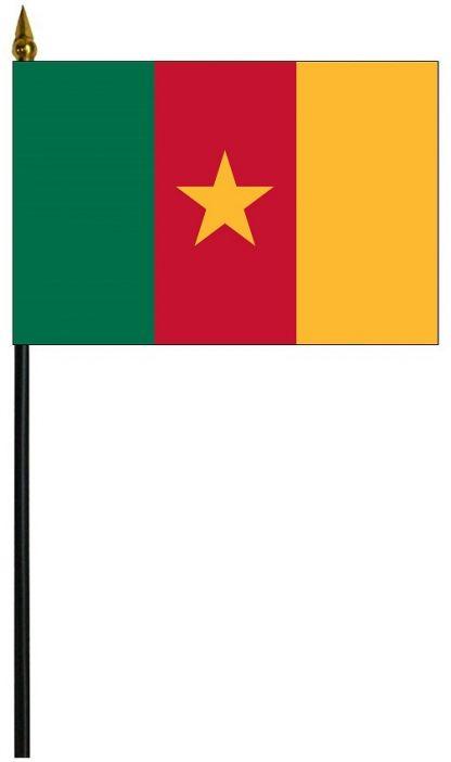 "MRF-46-CAMEROON Cameroon 4'' x 6"" Staff Mounted Rayon-0"