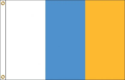 FW-110-5X8CANARYISLA Canary Islands 5' x 8' Outdoor Nylon Flag with Heading and Grommets-0