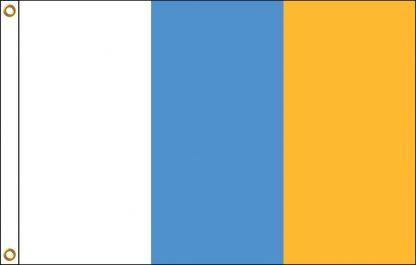 FW-110-4X6CANARYISLA Canary Islands 4' x 6' Outdoor Nylon Flag with Heading and Grommets-0