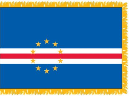 FWI-235-4X6CAPEVERDE Cape Verde 4' x 6' Indoor Flag with Pole Sleeve and Fringe-0