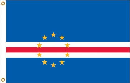 FW-135-CAPEVERDE Cape Verde 2' x 3' Outdoor Nylon Flag with Heading and Grommets-0