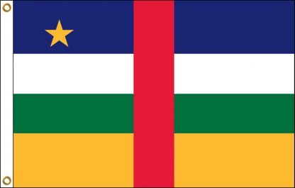 FW-130-4X6CAR Central African Republic 4' x 6' Outdoor Nylon Flag with Heading and Grommets-0