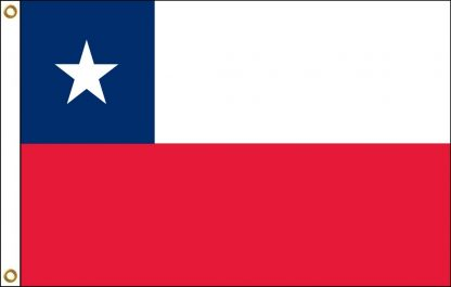 PCF-35B-CHILE Chile 3' x 5' 68D Polyester Flag with Heading and Grommets-0