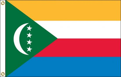 FW-140-5X8COMOROS Comoros 5' x 8' Outdoor Nylon Flag with Heading and Grommets-0