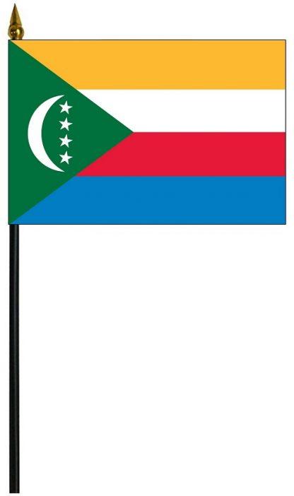 "MRF-46-COMOROS Comoros 4'' x 6"" Staff Mounted Rayon-0"