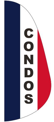 FEF-3X8-CONDOS Condos 3' x 8' Message Feather Flag-0