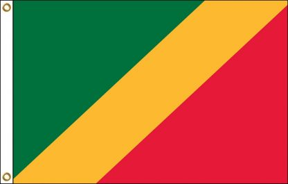 035057 Republic of the Congo 6' x 10' Outdoor Nylon Flag with Heading and Grommets-0