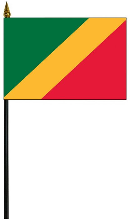 "MRF-46-CONGO-UN Republic of the Congo 4'' x 6"" Staff Mounted Rayon-0"