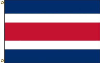 035058 Costa Rica 6' x 10' Outdoor Nylon Flag with Heading and Grommets-0
