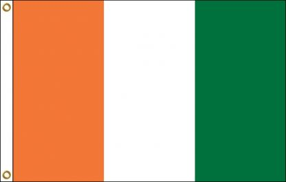 FW-110-5X8COTEDIVOI Cote D'Ivoire 5' x 8' Outdoor Nylon Flag with Heading and Grommets-0