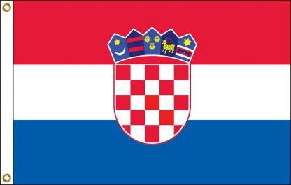 FW-140-CROATIA Croatia 2' x 3' Outdoor Nylon Flag with Heading and Grommets-0