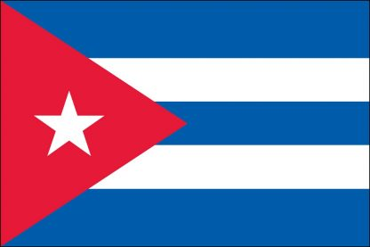 "EPC-1218-CUBA Cuba 12'' x 18"" Staff-mounted Polyester Stick Flag-0"