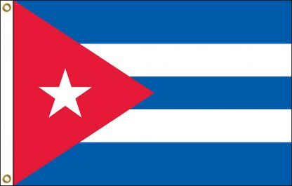 FW-135-CUBA Cuba 2' x 3' Outdoor Nylon Flag with Heading and Grommets-0
