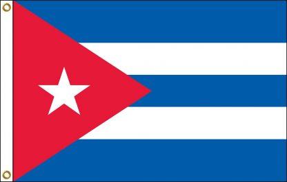 FW-135-5X8CUBA Cuba 5' x 8' Outdoor Nylon Flag with Heading and Grommets-0