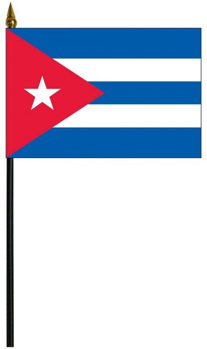 """MRF-46-CUBA Cuba 4'' x 6"""" Staff Mounted Rayon-0"""