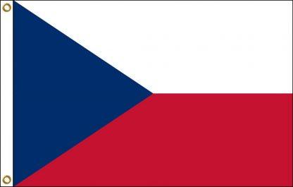FW-120-CZECHREPUBLI Czech Republic 2' x 3' Outdoor Nylon Flag with Heading and Grommets-0