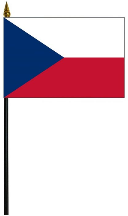 "MRF-46-CZECHREPUBLIC Czech Republic 4'' x 6"" Staff Mounted Rayon-0"
