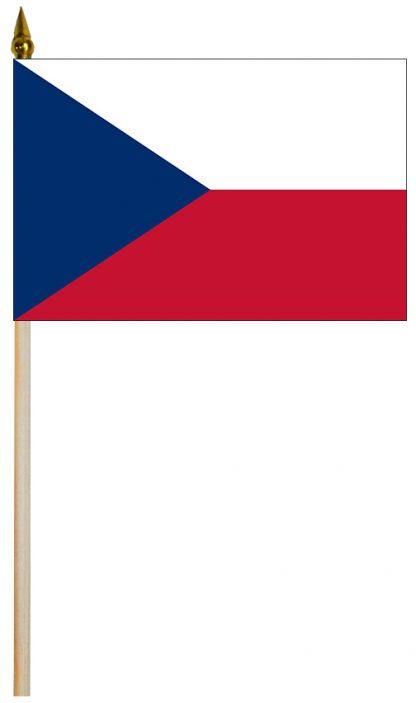 "EPC-1218-CZECHREPUBL Czech Republic 12'' x 18"" Staff-mounted Polyester Stick Flag-0"