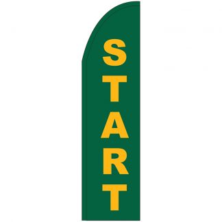 FF-T2-312-START Start 3' x 12' Half Drop Feather Flag-0
