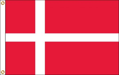 """IFM-12 Denmark 12"""" x 18"""" Outdoor Nylon Flag with Heading and Grommets-0"""