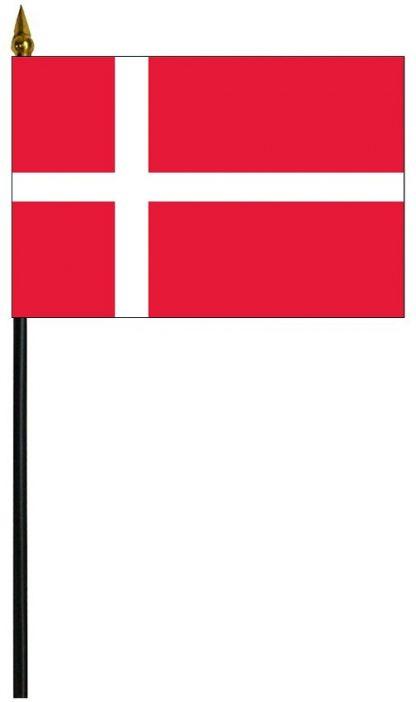 "MRF-46-DENMARK Denmark 4'' x 6"" Staff Mounted Rayon-0"