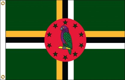 035067 Dominica 6' x 10' Outdoor Nylon Flag with Heading and Grommets-0