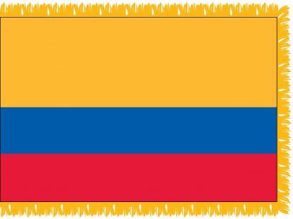 FWI-210-3X5ECUADOR Ecuador 3' x 5' Indoor Flag with Pole Sleeve and Fringe-0