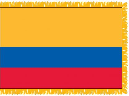 FWI-210-4X6ECUADOR Ecuador 4' x 6' Indoor Flag with Pole Sleeve and Fringe-0