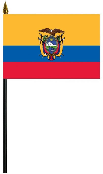 "MRF-46-ECUADOR-S Ecuador with Seal 4'' x 6"" Staff Mounted Rayon-0"
