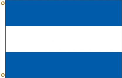 FW-110-ELSALVADO El Salvador 3' x 5' Outdoor Nylon Flag with Heading and Grommets-0