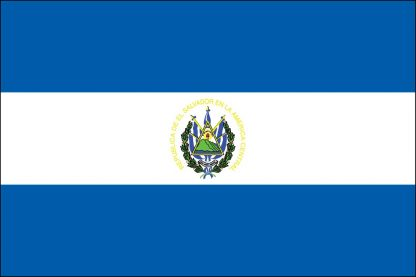 FW-135-ELSALVADOR El Salvador with Seal 2' x 3' Outdoor Nylon Flag with Heading and Grommets-0