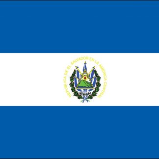 FW-135-3X5ELSALVADOR El Salvador with Seal 3' x 5' Outdoor Nylon Flag with Heading and Grommets-0