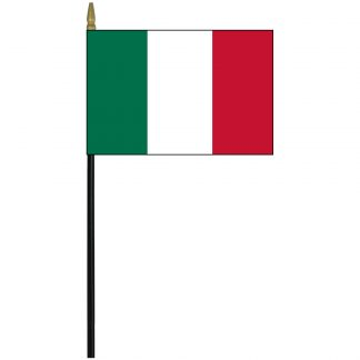 """EPC-812-ITALY Italy 8"""" x 12"""" Polyester Staff-mounted Stick Flag -0"""