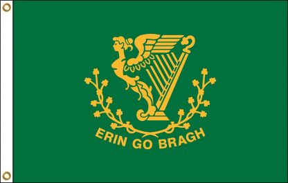 FW-125-ERIN Erin Go Bragh 2' x 3' Outdoor Nylon Flag with Heading and Grommets-0