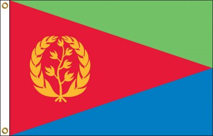 FW-135-3X5ERITREA Eritrea 3' x 5' Outdoor Nylon Flag with Heading and Grommets-0