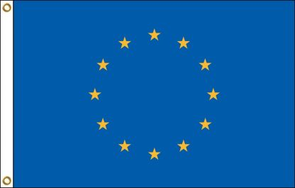 035080 European Union 6' x 10' Outdoor Nylon Flag with Heading and Grommets-0