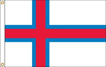 035082 Faroe Islands 6' x 10' Outdoor Nylon Flag with Heading and Grommets-0